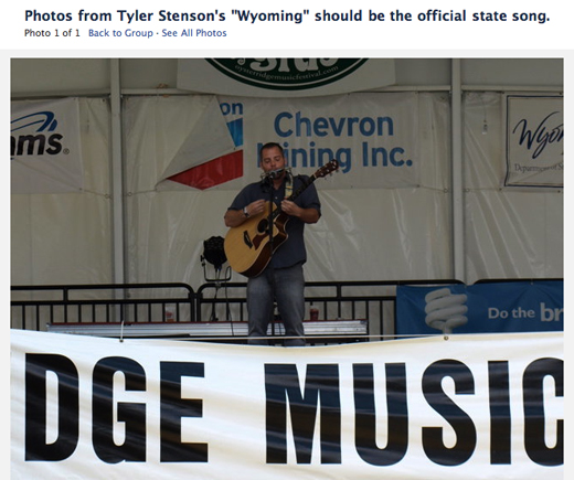 Facebook Group for Wyoming State Song | Tyler Stenson